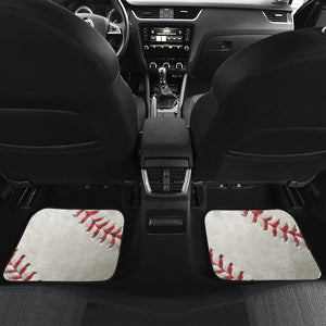 Baseball Front And Back Car Mats (Set of 4)