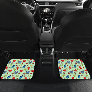 Butterfly Garden Car Floor Mats 4 Set