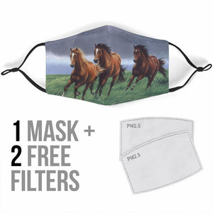 horse mask with filter