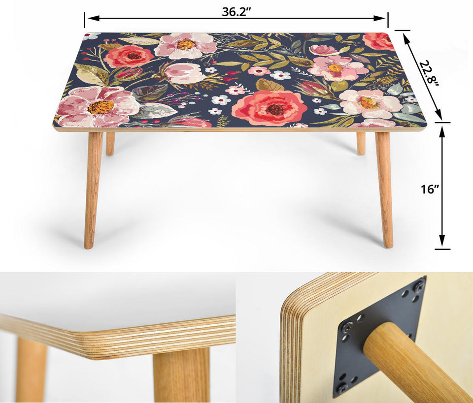 Coffee Table Vintage Flowers