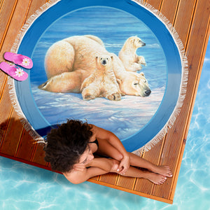 Polar Bear yoga blanket