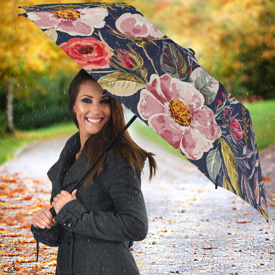 Umbrella flower print