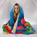 flower tulip hooded blanket