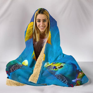 parakeet hooded blanket