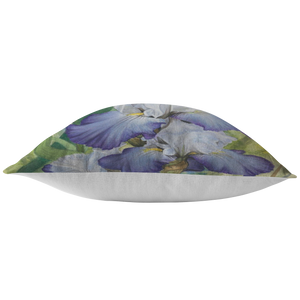 Iris Throw Pillow - Floral Pillow Cover