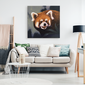 Red panda wall art canvas algarve online shop