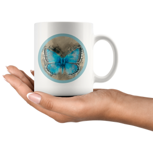 butterfly morpho tea mug
