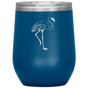Flamingo Wine Tumbler