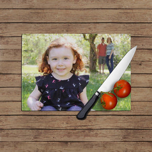 Glass Cutting Board Photo Personalized