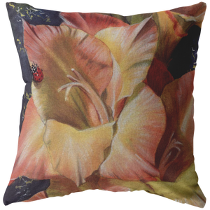 decorative pillow with flower print
