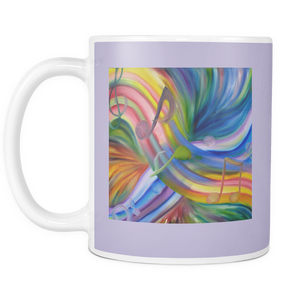 mug music notes rainbow colorful