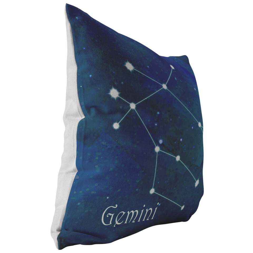 gemini sign pillow