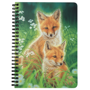 Spiral Notebook Fox