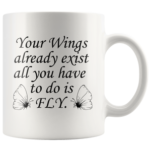 Butterfly Quote Coffee Mug