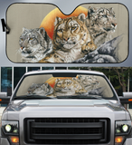 Car Sun Shade Big Cat Family