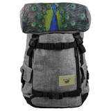 Peacock backpack for school, college