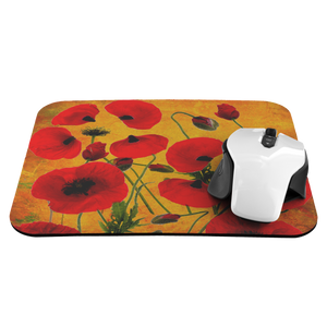 Poppies yellow mousepad