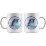 dolphin mug aquarelle back and front