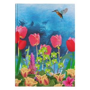 floral hard cover journal