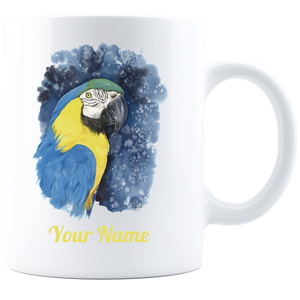 parrot mug customized algarve online shop