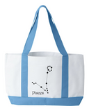 Zodiac Pisces Constellation Tote Bag