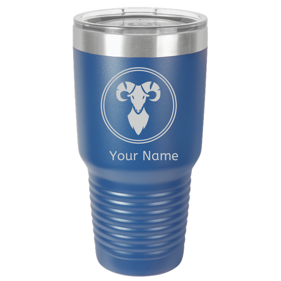 Aries Coffee Mug Tumbler. Personalized Gift For Zodiac - Horoscope Aries Sign