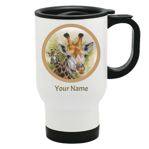 Giraffe travel mug