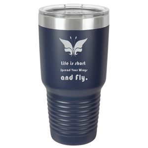 Tumbler Coffee Mug Butterfly Quote