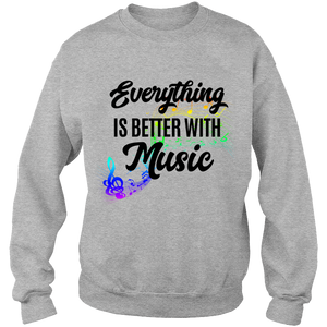 Music Crew-neck Sweat Shirt