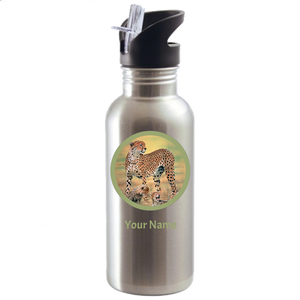 Cheetah water bottle stainless