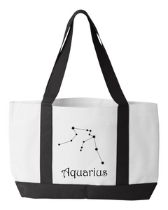 Zodiac Aquarius Constellation Tote Bag