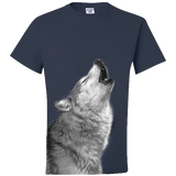 T-Shirt - Wolf Howling Night