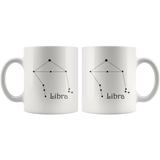 Zodiac Libra Constellation Ceramic Coffee Mug
