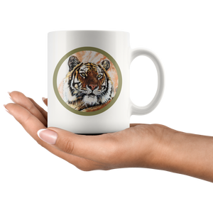 Tiger mug back and front algarve online shop