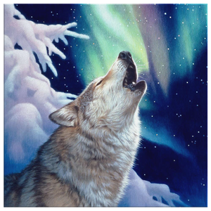 Wolf Canvas Wall Art  Holy Night