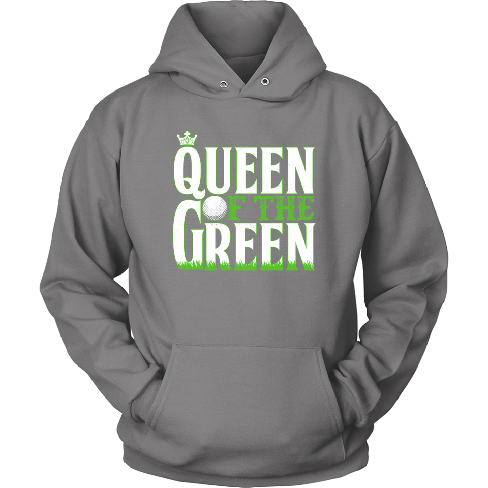 hoodie golf grey queen of the green