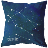 Zodiac horoscope gemini pillow