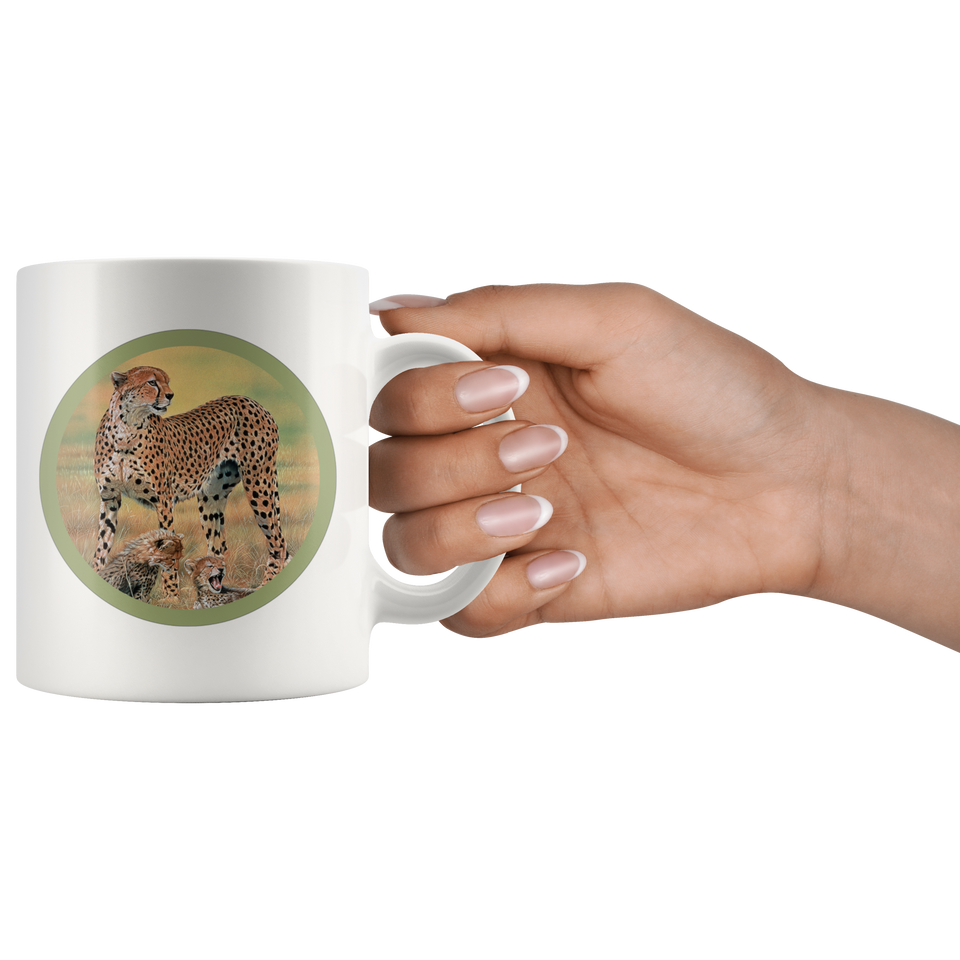 Cheetah Mug white
