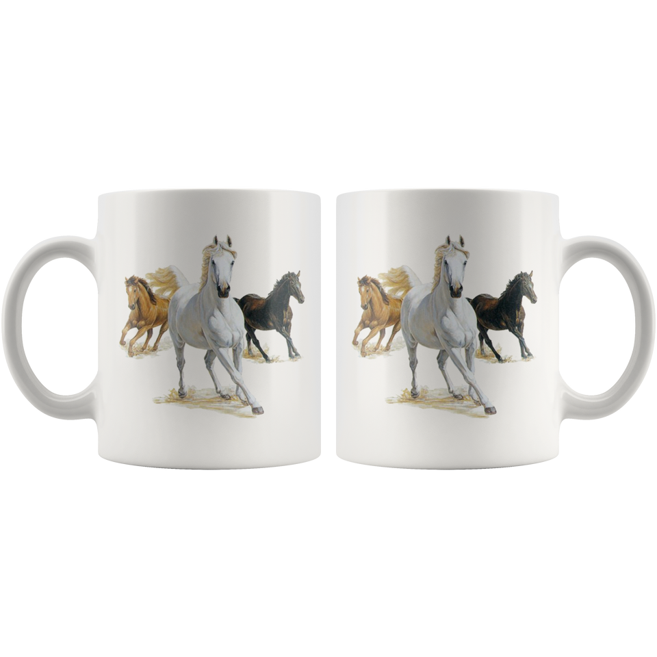 Mug with horses algarve online shop