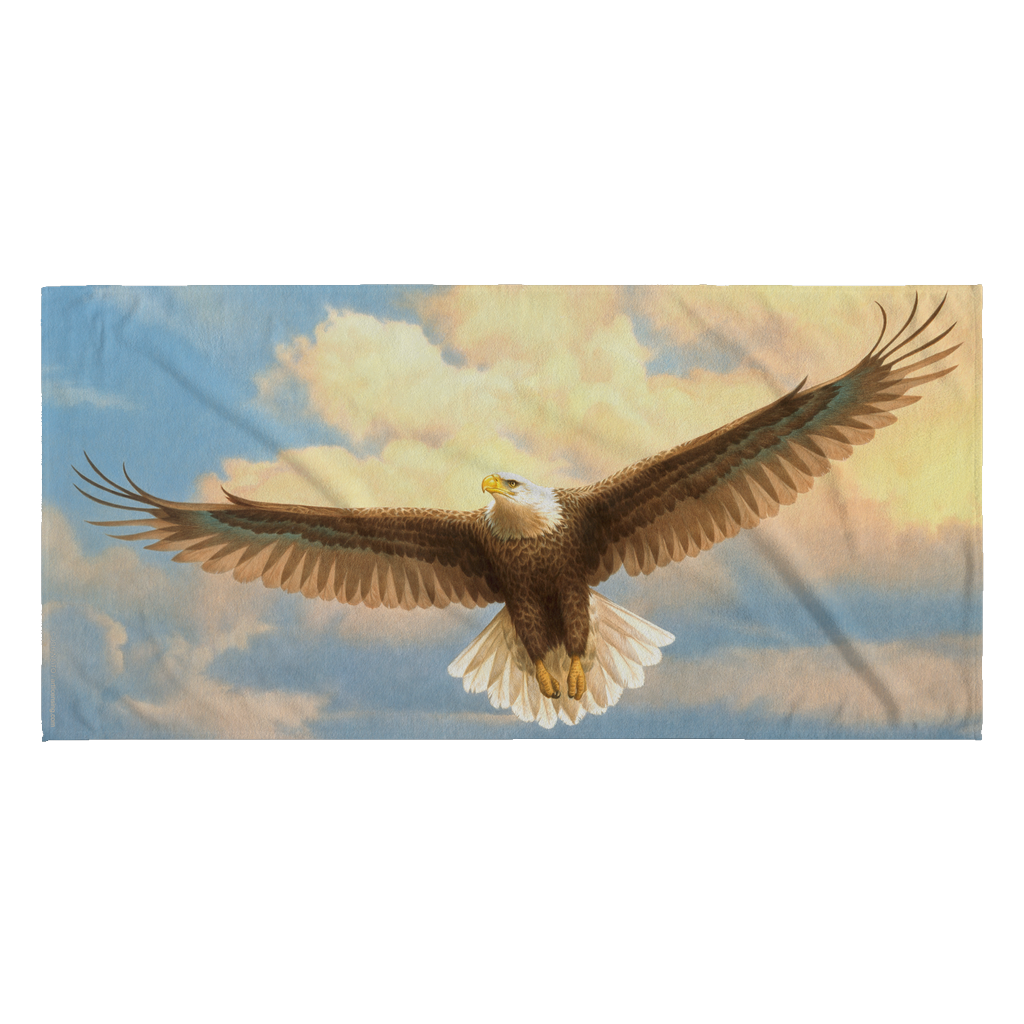 Beach Towel - Bald Eagle