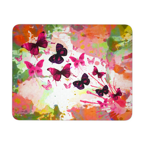 Mouse Pad Butterflies Pink