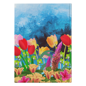 flower hummingbird hard cover journal