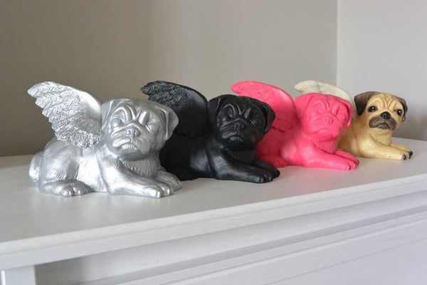 Pugs might fly Money Box Silver Biddy Pug Money Boxes