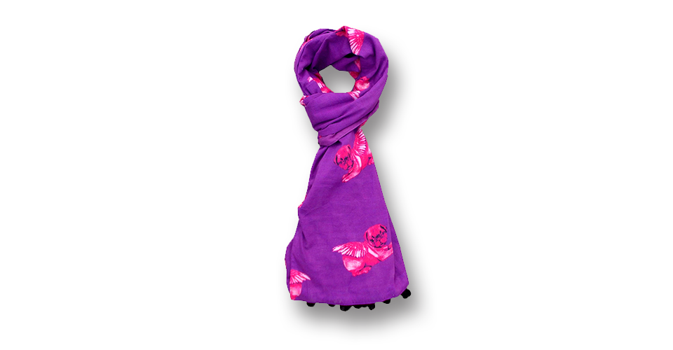 Pugs might fly Scarf Purple and Pink Scarf
