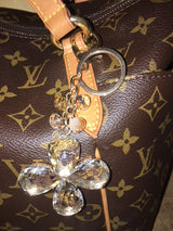 Purse Charm / Key Ring - Big Crystal Clover