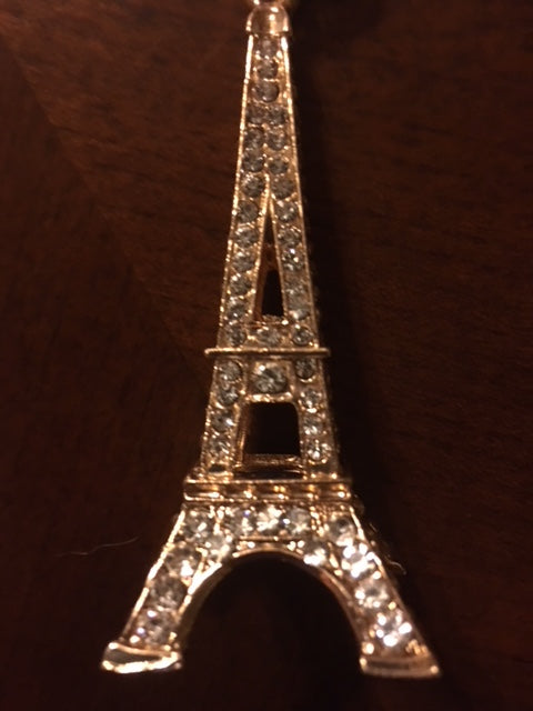 Purse Charm / Key Ring - Diamond One Side Eiffel Tower Charm Individual