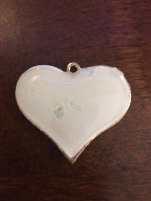 Purse Charm / Key Ring - White one side and Pink other side Heart Charm Individual