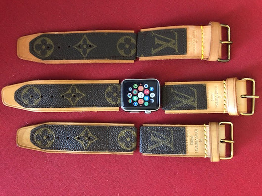 LV -  I-band Apple Watch Handmade with Connector