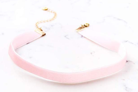 Ribbon Choker - Blush