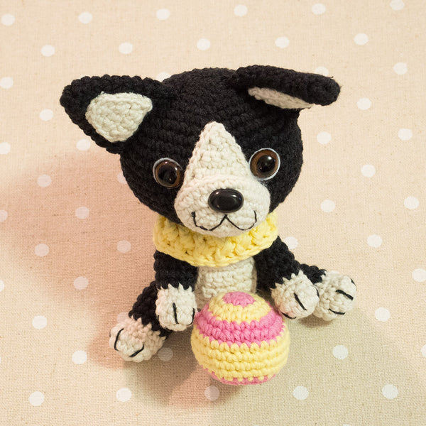 Boston Terrier puppy crochet pattern - printable PDF